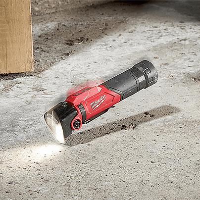 Milwaukee Rechargeable Flashlight 500-Lumen Metal Pocket Clip Impact Resistant