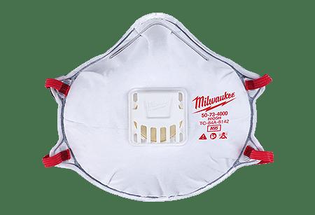 Milwaukee Masks With Tool Gasket Valved Respirator