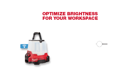 Optimize brightness for your workspace