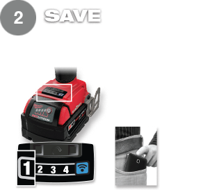 Save up to 4 modes and cycle between them on the tool.