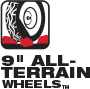 9 in. All-Terrain Wheels