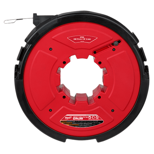 "M18 FUEL™ ANGLER™ 240' x 1/8"" Steel Pulling Fish Tape Drum"