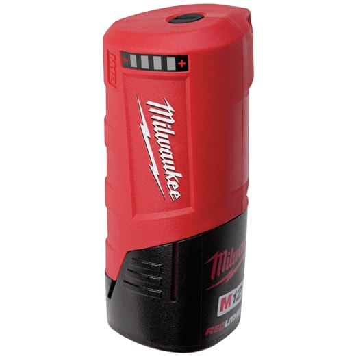 Alternative for Milwaukee Round Charger Replacement Compatible with All M12 Batteries Red Powered by 2.1-amp USB Port Provide up to 6 Hours of Continuous Charging Heat
