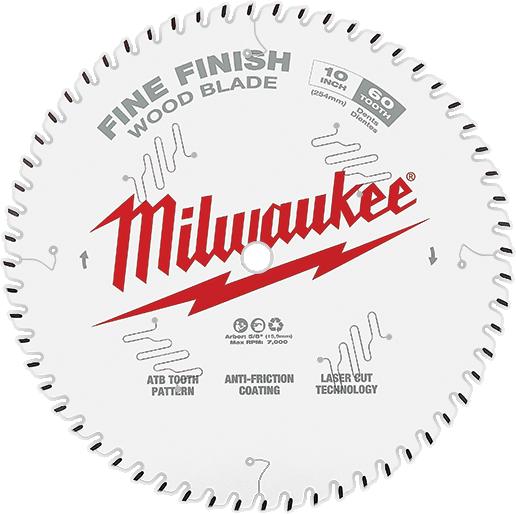 MILWAUKEE Finish Circular Saw Blade 8-1//4 in x 40-Tooth Fine Hand Table Wood