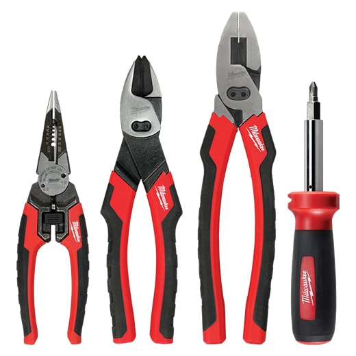 Milwaukee Electricians Screwdrivers Pliers Wire Cutters Hand Tool Set 12 Piece