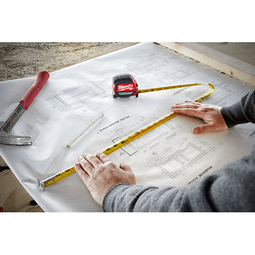 Milwaukee 48-22-0317 5m//16 x 1-In Compact Magnetic Tape Measure