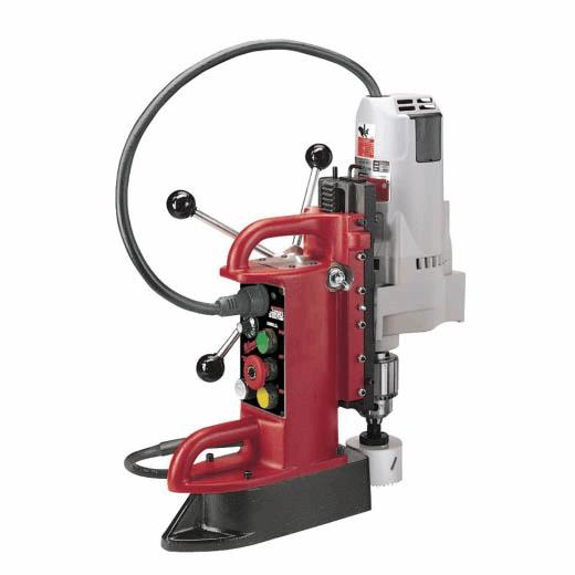 "Fixed-Position Electromagnetic Drill Press with ¾"" Motor on"