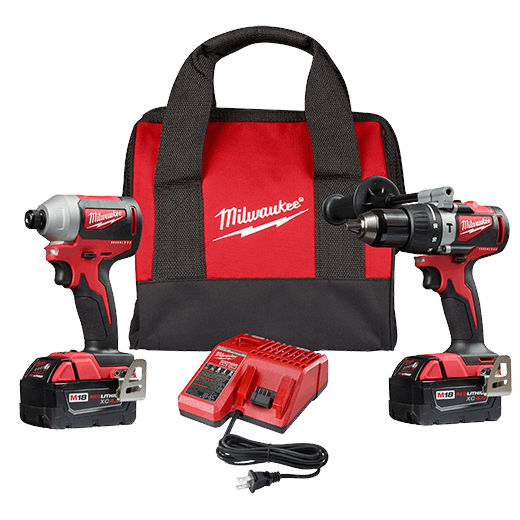 M18 Brushless 2-Tool Combo Kit, Hammer Drill/ 3-Speed Impact Driver