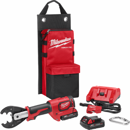 M18™ FORCE LOGIC™ 6T Utility Crimper Kit with D3 Grooves and Fixed O Die