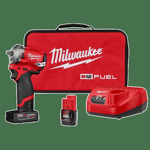 M12 Fuel Stubby 3 8 Impact Wrench Kit Milwaukee Tool