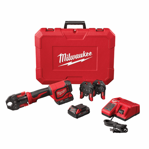 MILWAUKEE 2674-22C M18 SHORT THROW PRESS TOOL KIT WITH PEX CRIMP JAWS INCLUDES 2 M18 BATTERY, CHARGER, 1/2