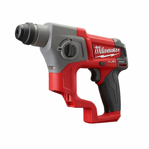Milwaukee® 2416-21XC M18™ FUEL™ Brushless Cordless Rotary Hammer Kit, 5/8 in SDS Plus Chuck, 12 V, 900 rpm No-Load, Lithium-Ion Battery