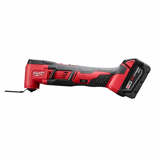 Battery Not Included, Power Tool Only Milwaukee 2626-20 M18 18V Lithium Ion Cordless 18,000 OPM Orbiting Multi Tool with Woodcutting Blades and Sanding Pad with Sheets Included
