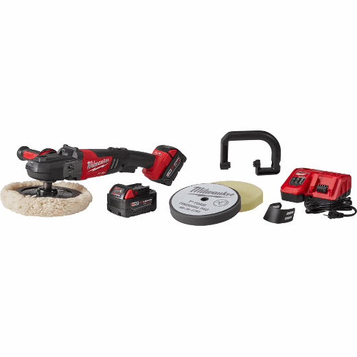 Milwaukee® 2738-22P M18™ FUEL™ Cordless Polisher Kit With Pads, 7 in Dia Pad, 18 VDC, M18™ REDLITHIUM™ Battery