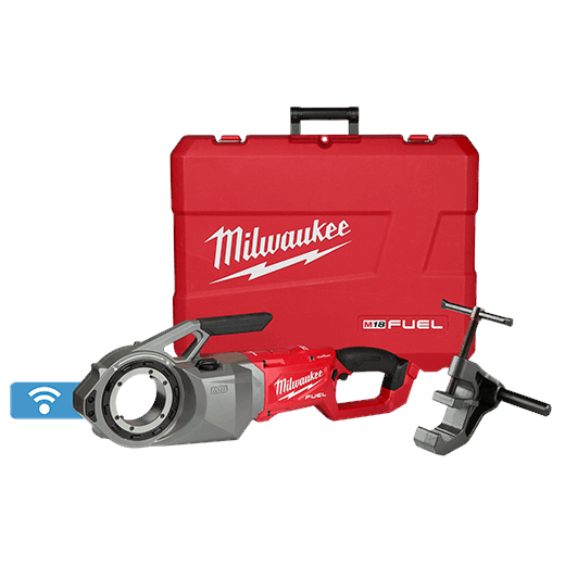 MILWAUKEE 2874-20 M18 FUEL ONE-KEY BRUSHLESS PIPE THREADER (TOOL ONLY) WITH SUPPORT ARM AND CARRYING CASE MC397727
