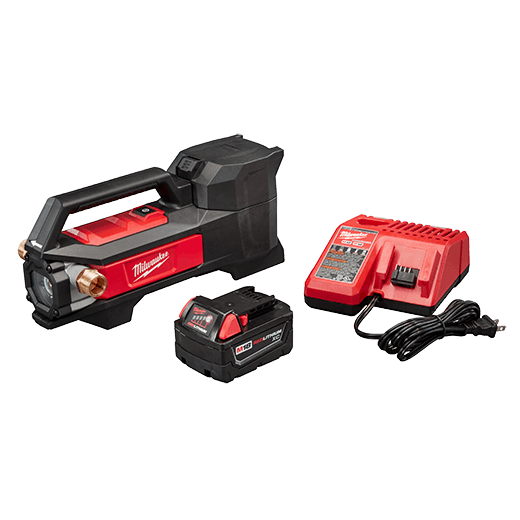 MILWAUKEE 2771-21 M18 TRANSFER PUMP KIT INCLUDES: PUMP, BATTERY & CHARGER ##IMAP## MC369160