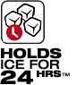 Holds Ice For 24 Hours